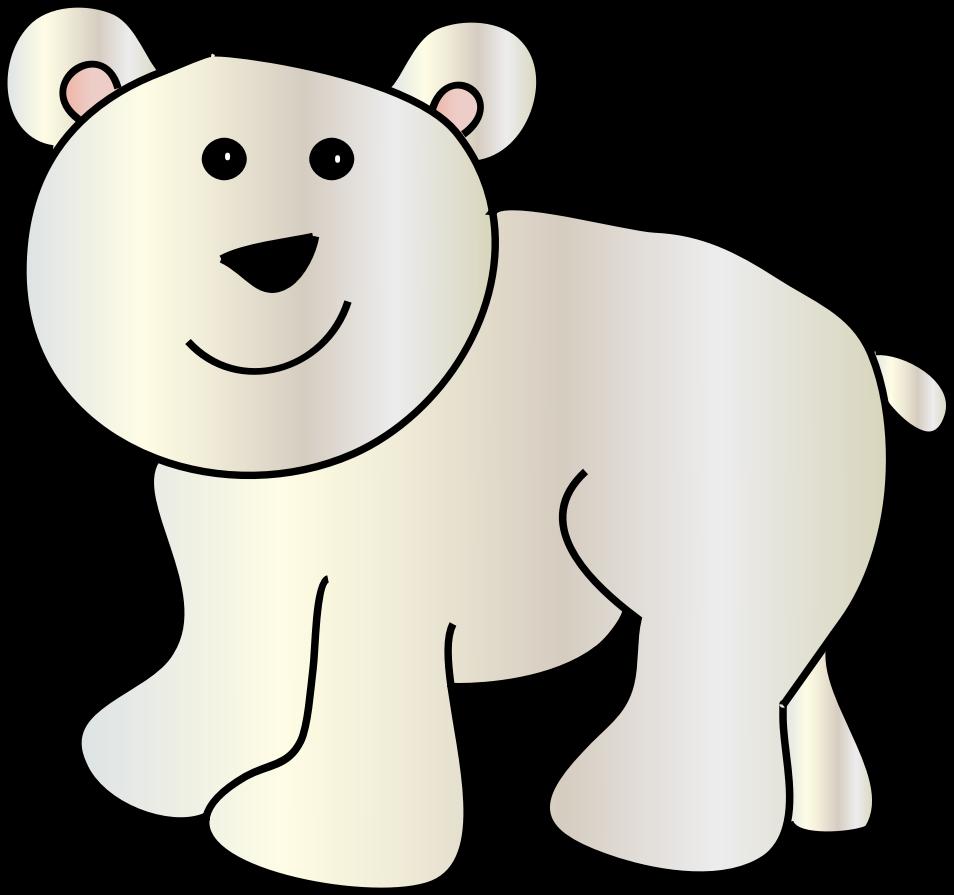 954x895 Clipart Polar Bear