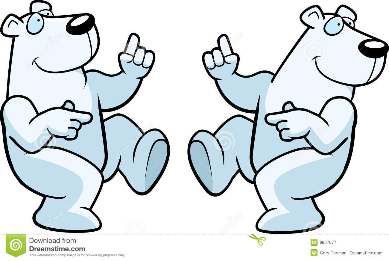 1300x871 Dancing Polar Bear Clipart