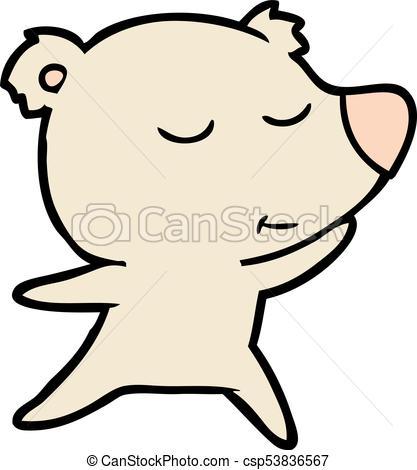 417x470 Happy Cartoon Polar Bear Dancing Clip Art Vector