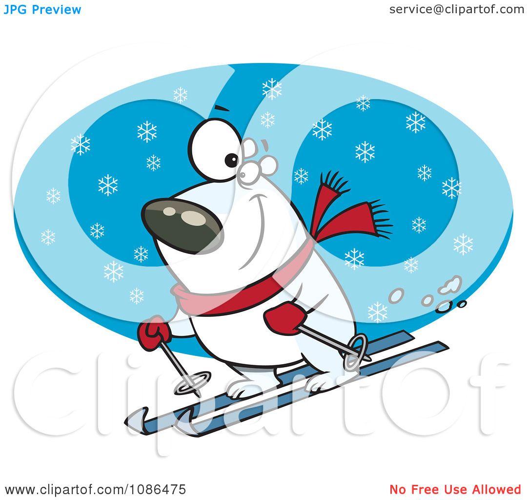 1080x1024 Polar Bear Clipart Skier