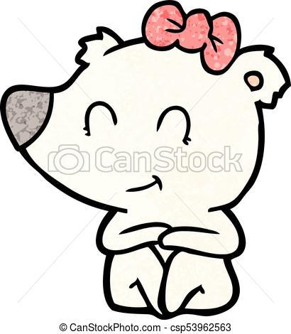 410x470 Polar Bear Cartoon Clip Art Vector