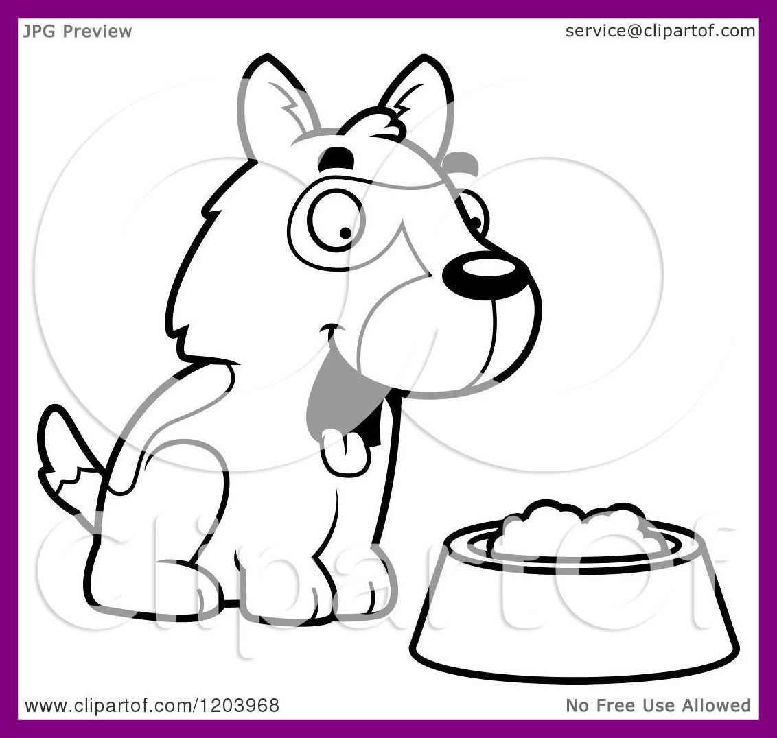 1132x1076 Shocking Cartoon Of A Black And White Cute Bulldog Puppy Dog