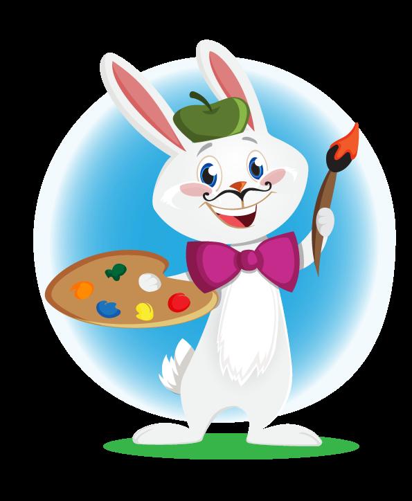 595x724 Bunny Clipart Computer