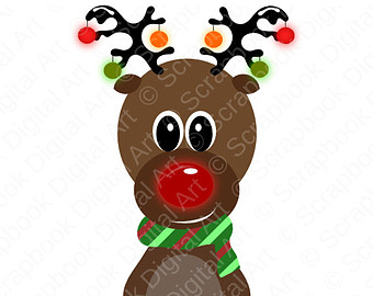 Cartoon Reindeer Clipart