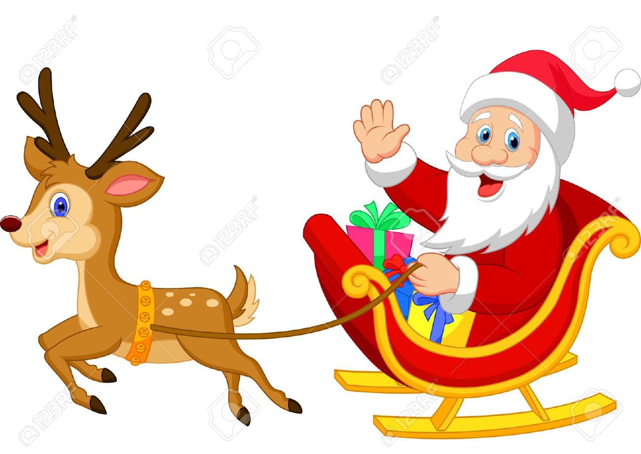 1300x921 Fancy Pictures Of Santa Claus And His Reindeer 27 In Sleigh