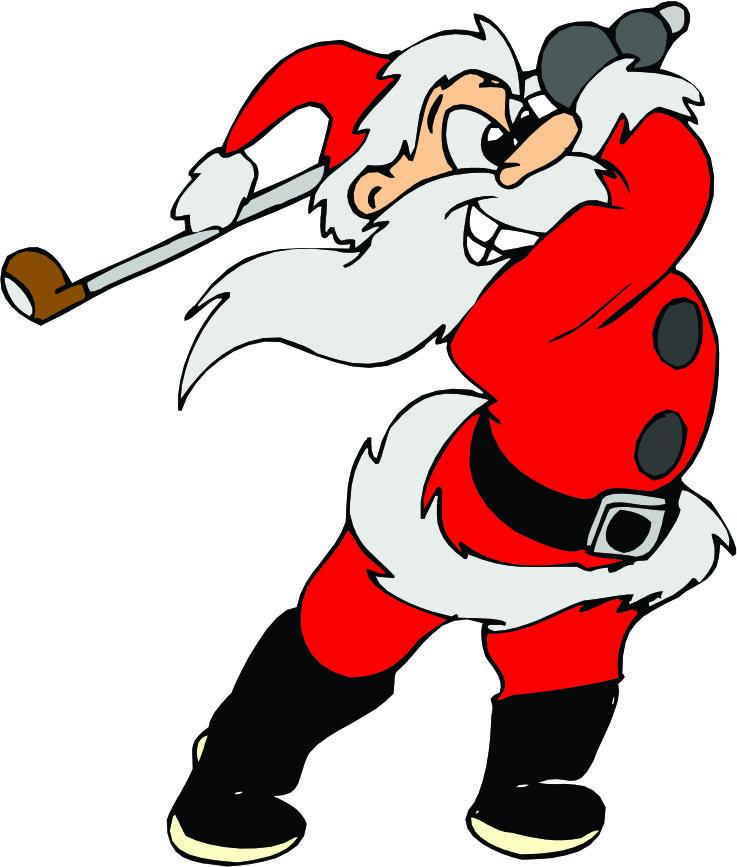 737x867 Golfing Santa Golfing Reindeer Clipart Amp Golfing Santa Golfing