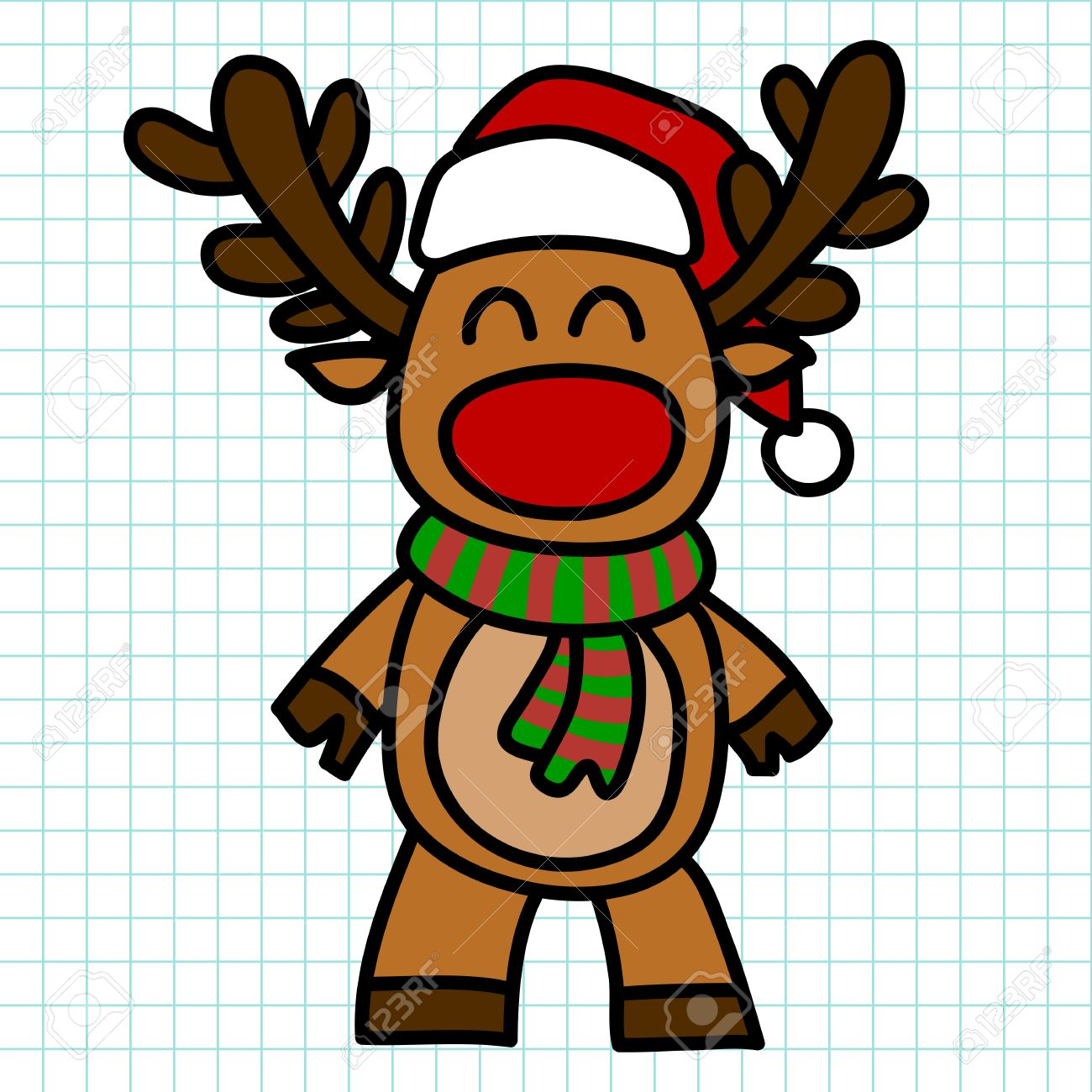 1300x1300 Reindeer Drawing Cartoon