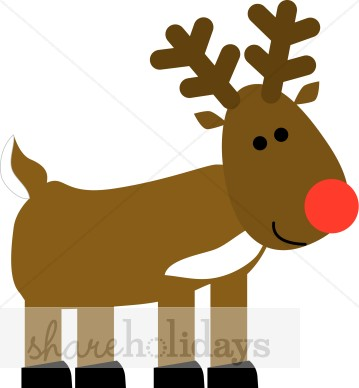 359x388 Rudolph Cartoon Clipart