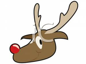 300x225 Rudolph The Red Nosed Reindeer Clipart Picture