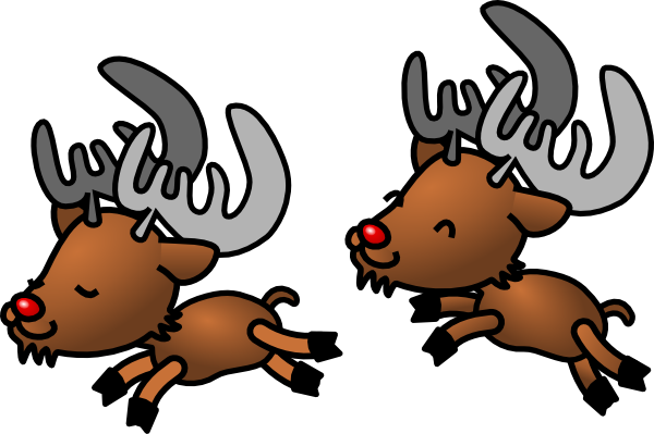 600x399 Cartoon Reindeer Clip Art