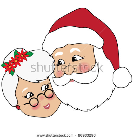 450x470 Santa And Mrs Claus Clipart Black And White Amp Santa And Mrs Claus