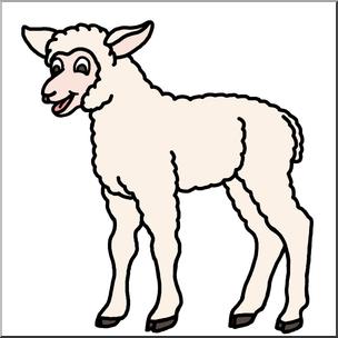 304x304 Clip Art Cartoon Sheep Lamb Color I Abcteach