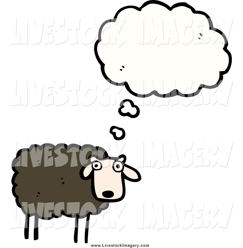 1024x1044 Clip Art Of A Black Sheep Thinking By Lineartestpilot