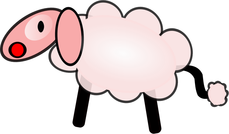 768x449 Download Sheep Clip Art ~ Free Clipart Of Cute Sheep Fluffy Hand
