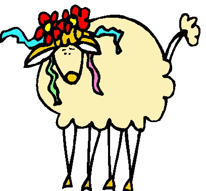 408x377 Sheep Clip Art Cartoon Image