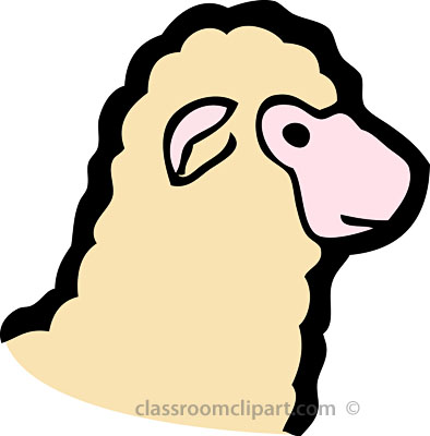 394x400 Sheep Clipart Side View