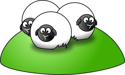 425x257 Simple Cartoon Sheep Clip Art Vector Clip Art Free Vector Free