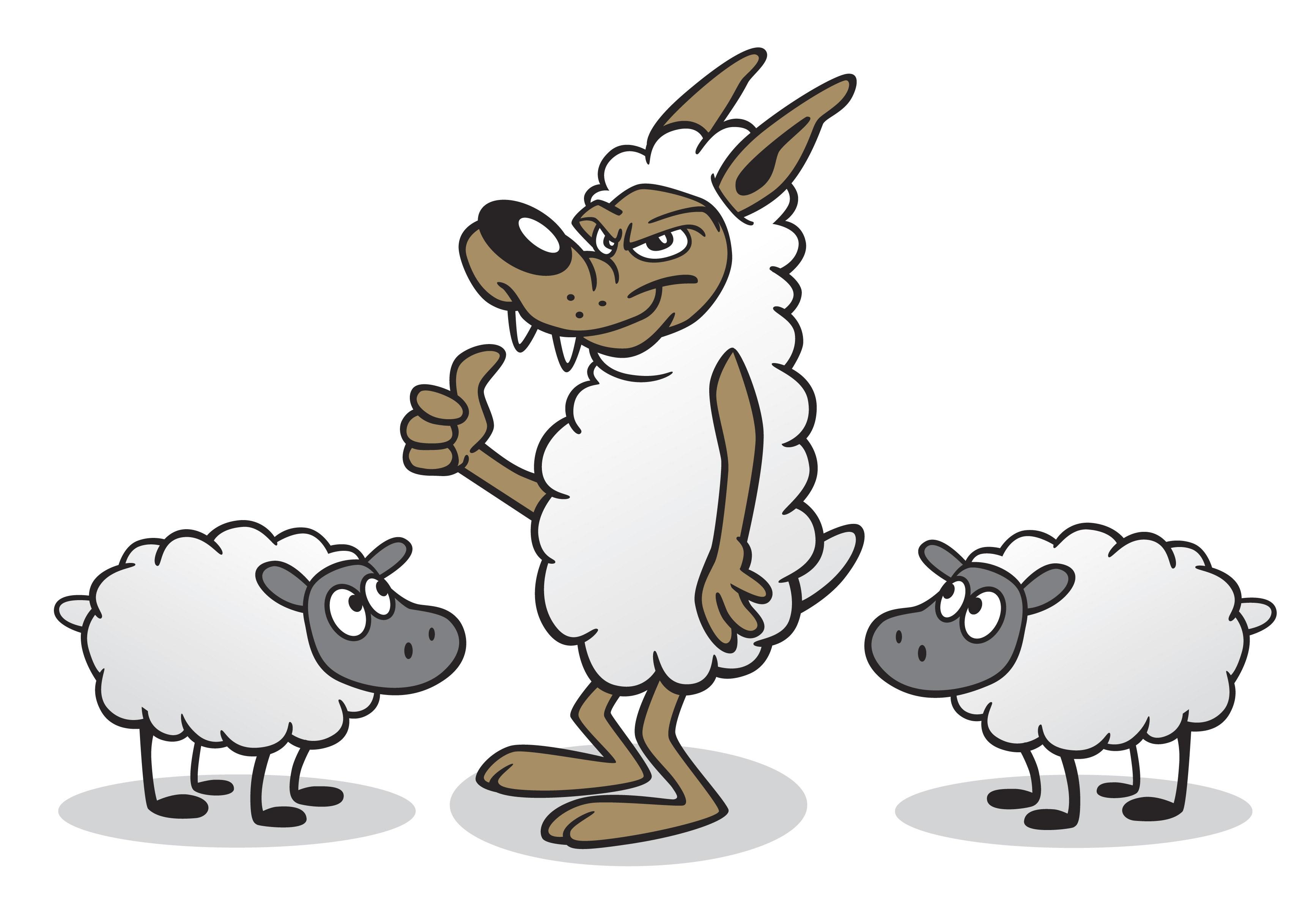 3468x2412 Cartoon Wolf In Sheep Clothing Clip Art 1801525 Misfit Matriarch