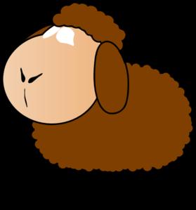 279x299 Brown Sheep Clip Art
