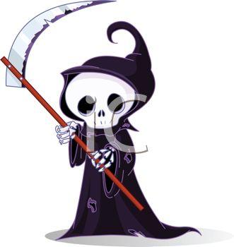 331x350 Cute Little Grim Reaper Skeleton Wearing A Cloak