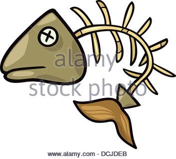 353x320 Fishbone Clip Art Cartoon Illustration Stock Vector Art