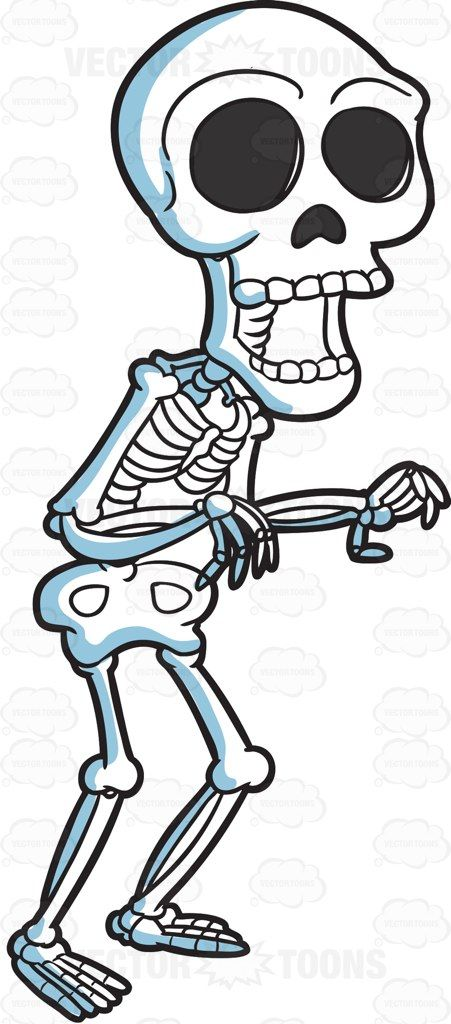 451x1024 A Skeleton Trying To Scare People Skeletons