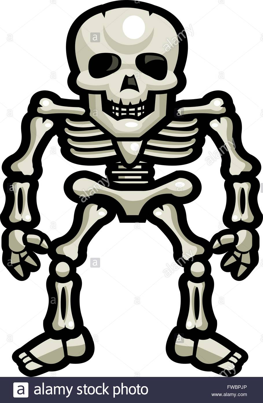 909x1390 A Cartoon Skeleton Standing Up Stock Vector Art Amp Illustration