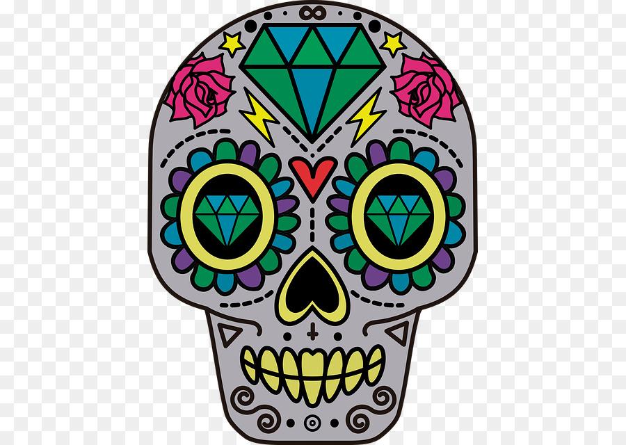 900x640 Calavera Skull Day Of The Dead Clip Art