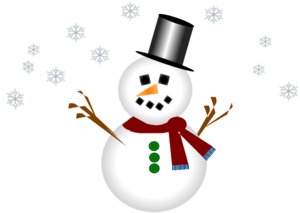 300x213 Snowman With Carrot Nose And Hat Clip Art