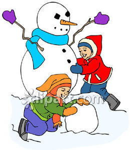 259x300 Two Children Building A Snowman