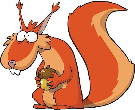 458x375 Cartoon Squirrel Clip Art Clipartix