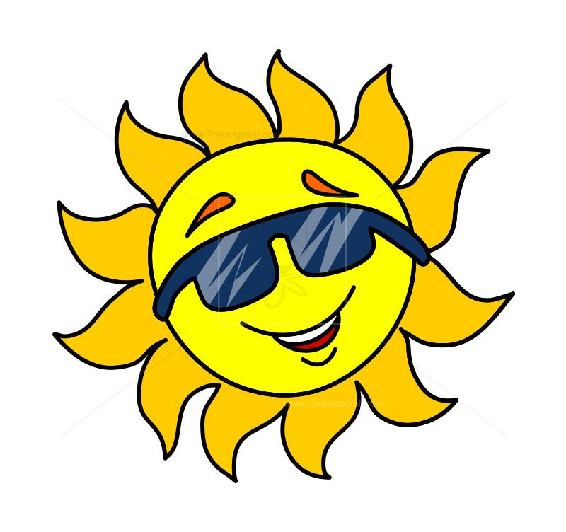 800x752 Cartoon Sun With Sun Glass Clip Art Free Vectors