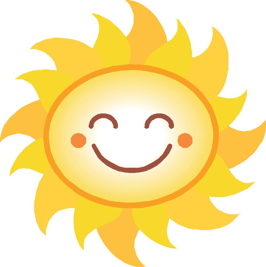 864x866 Clip Art Smiling Sun Smiling Sun Clipart 1
