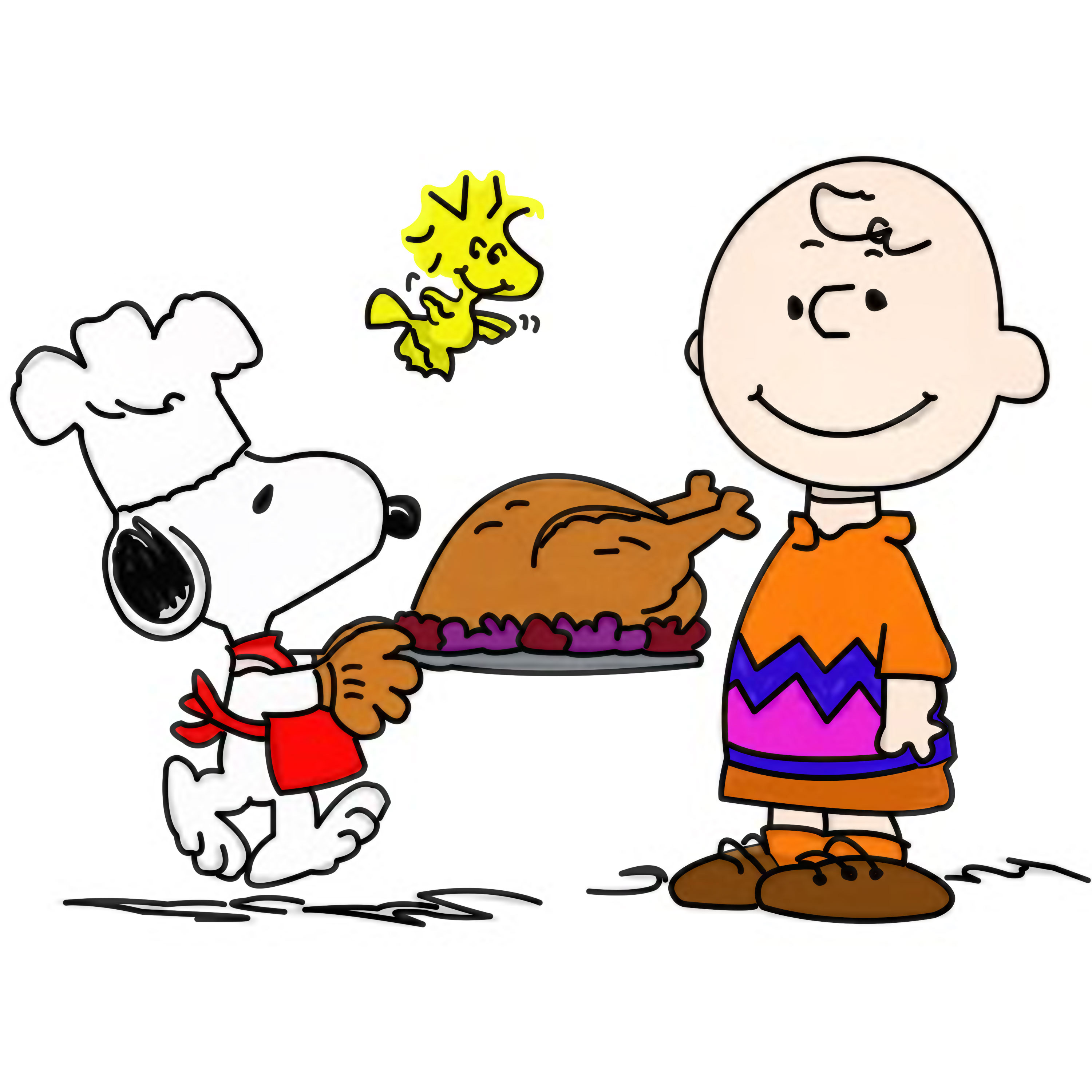 3000x3000 Collection Of Peanuts Thanksgiving Clipart High Quality