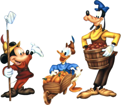 409x356 Best Mickey Mouse Thanksgiving Clipart