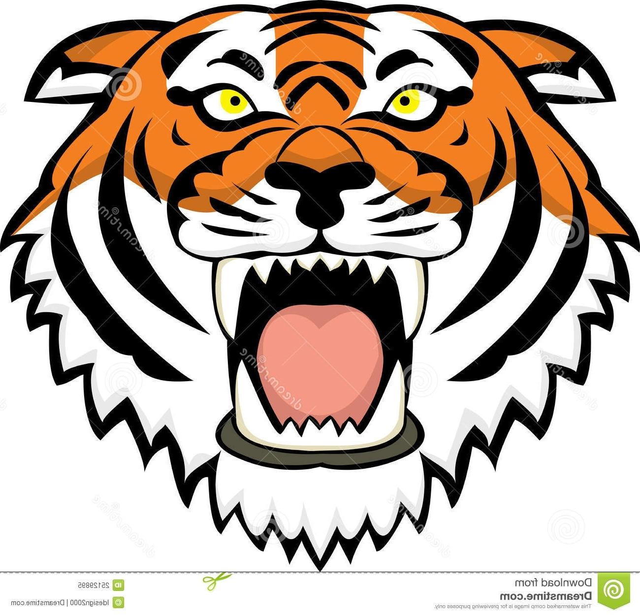 1300x1251 Cartoon Tiger Faces Angry Tiger Face Clip Art Clipart Panda Free
