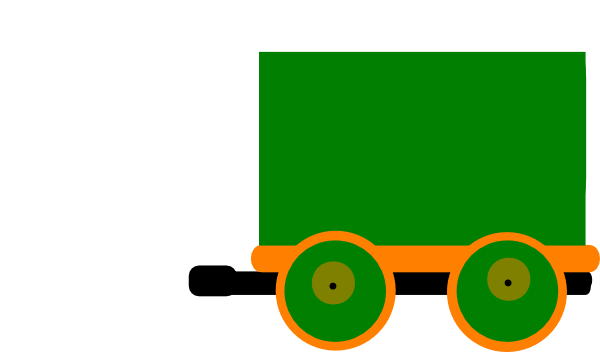 600x352 Green Train Clipart Collection