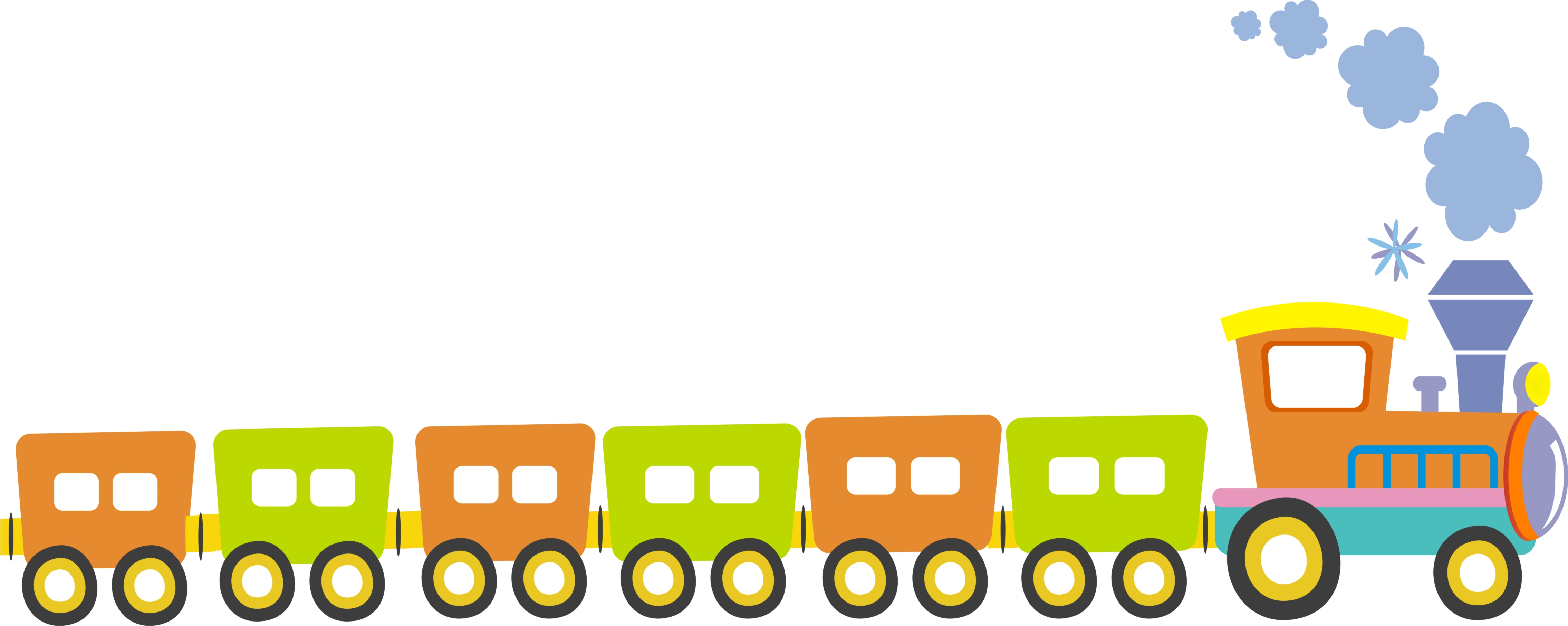 4541x1813 Image Of Choo Choo Train Clipart