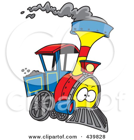 450x470 Royalty Free (Rf) Clip Art Illustration Of A Cartoon Train