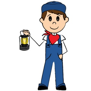 300x300 Train Conductor Free Clipart
