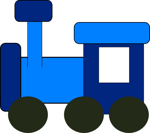 600x531 Blue Train Clip Art