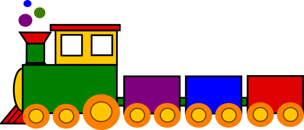 600x256 Cartoon Train Super Train Clip Art
