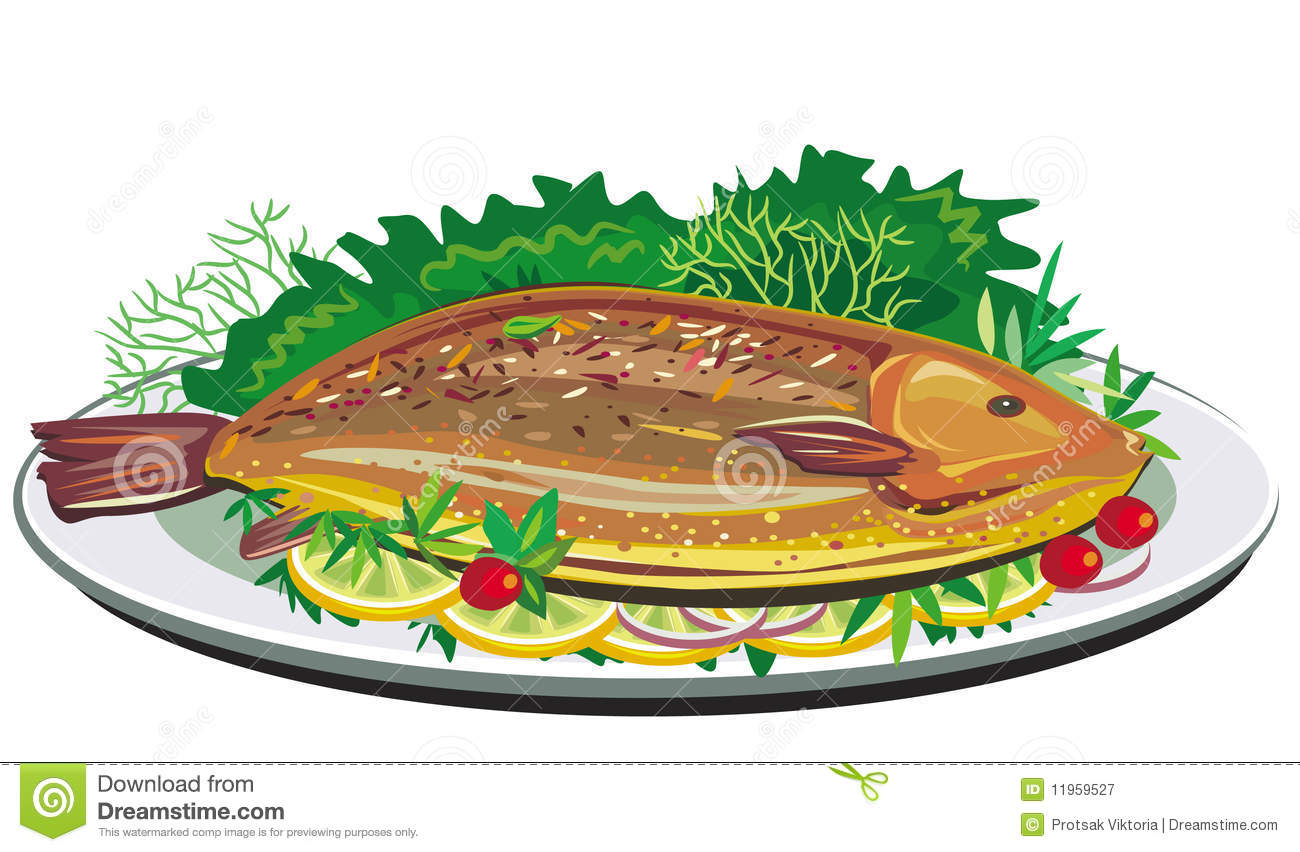 1300x852 Grilled Fish Clipart