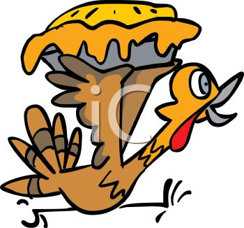 350x326 Picture Of A Cartoon Turkey Running Frantically Holding A Stolen