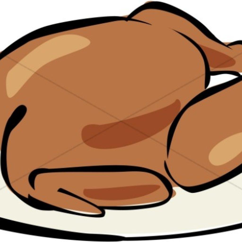 1024x1024 Cartoon Cooked Turkey Happy Birthday Clipart