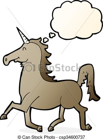 348x470 Cartoon Unicorn With Thought Bubble Vectors