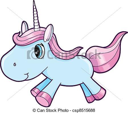 450x397 Cute Cartoon Unicorn Clipart