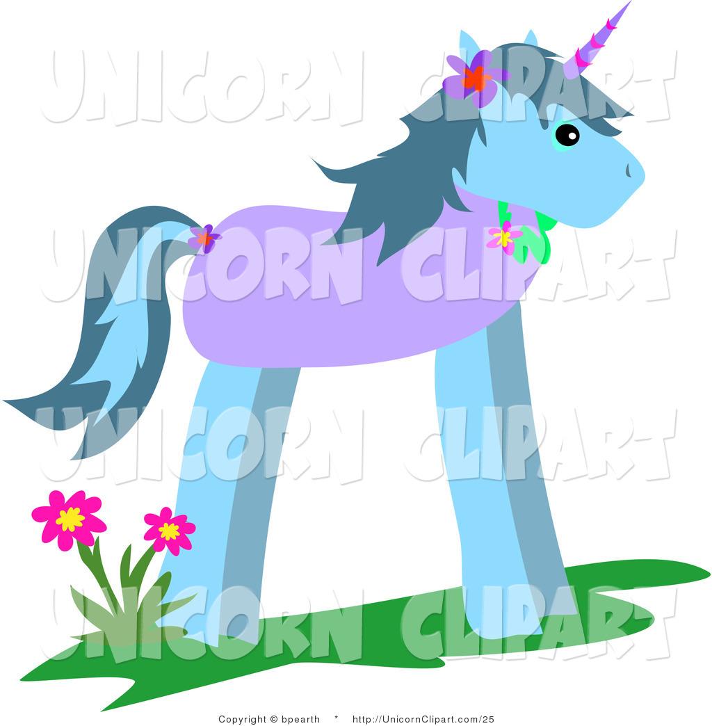 1024x1044 Fantasy Vector Clip Art Of A Cartoon Unicorn By Flowers By Bpearth