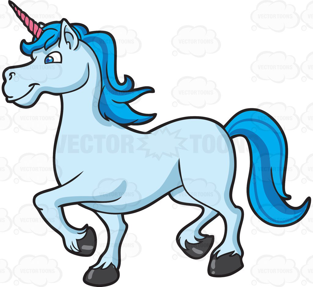 1024x941 A Cool Looking Unicorn Cartoon Clipart Vector Toons