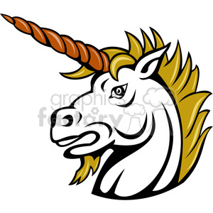 300x300 Royalty Free Angry Unicorn 390022 Vector Clip Art Image